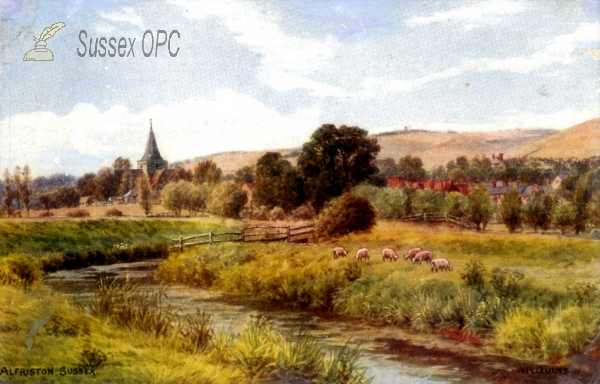 Alfriston - View of the village and church