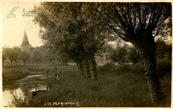 Image of Alfriston - Cuckmere River & St Andrew's Church
