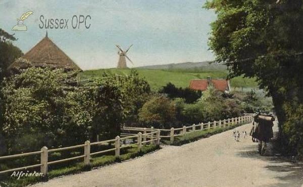 Image of Alfriston - A view of the mill