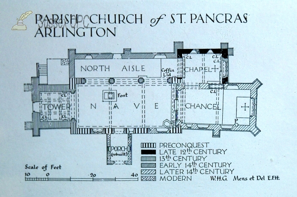 Arlington - St Pancras Church (Plan)
