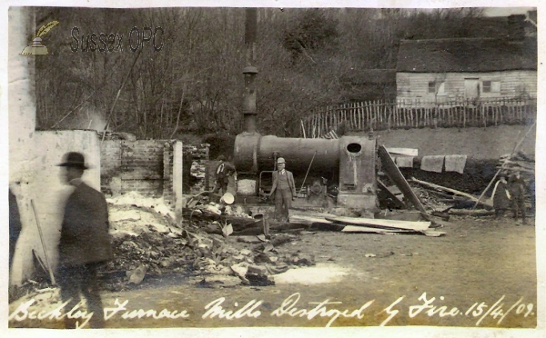 Image of Beckley - Furnace Mills Destroyed by Fire, 15th April 1909