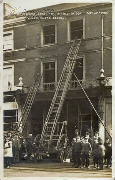 Bexhill - Devonshire Road Fire, 10th October 1912