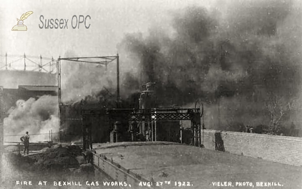 Bexhill - Fire at the Gas Works - 27 August 1922