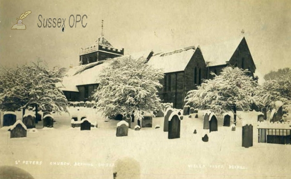 Bexhill - St Peter's Church in the snow