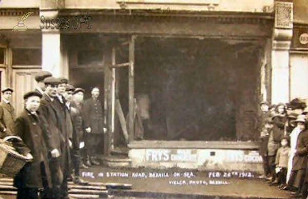 Bexhill - Station Road Fire (26 February 1912)