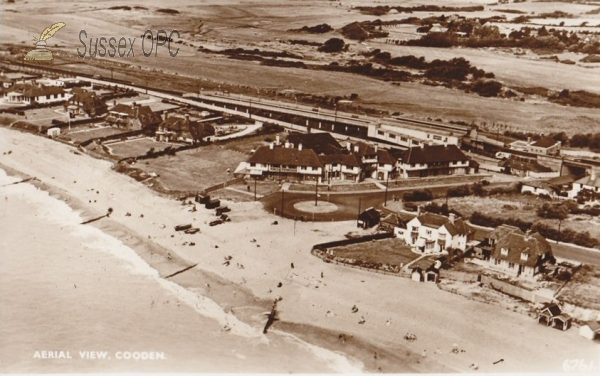 Image of Cooden - Aerial View & Railway Station
