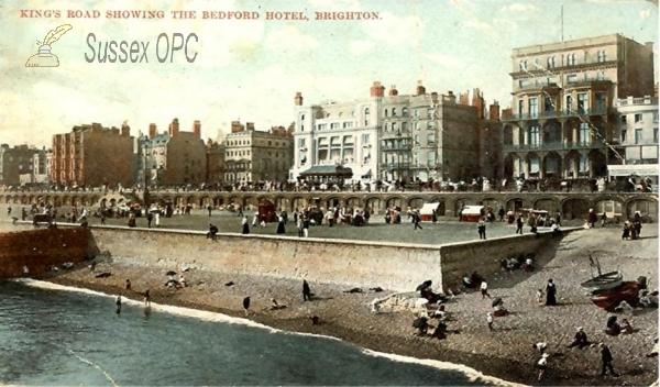 Brighton - Kings Road and Bedford Hotel