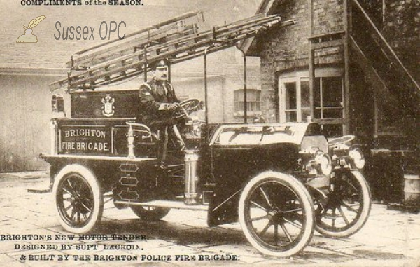 Brighton - Fire Brigade, New Motor Tender