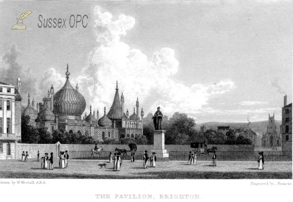 Image of Brighton - The Pavilion and St Peter's Church