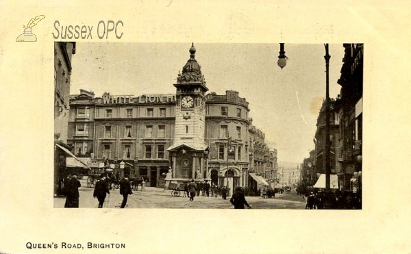 Brighton - Queens Road and White Lion Hotel
