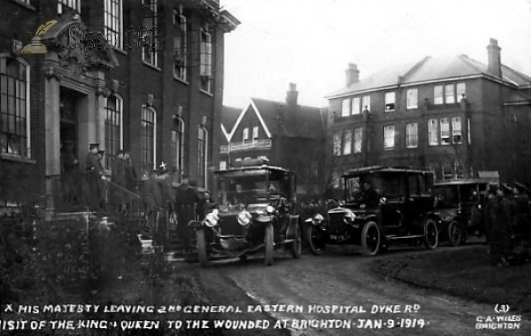 Brighton - Dyke Road Hospital, Royal Visit