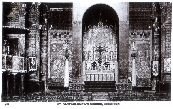Image of Brighton - St Bartholomew's Church (interior - altar)