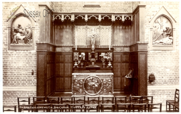 Brighton - St Bartholomew's Church (interior - Lady Altar)