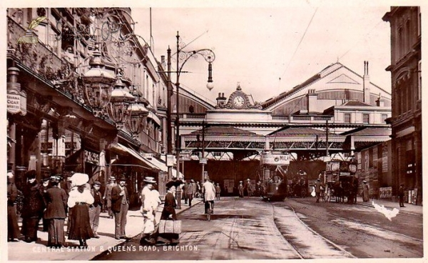 Brighton - Central Station and Queen's Road