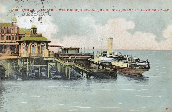 Image of Brighton - West Pier & Brighton Queen
