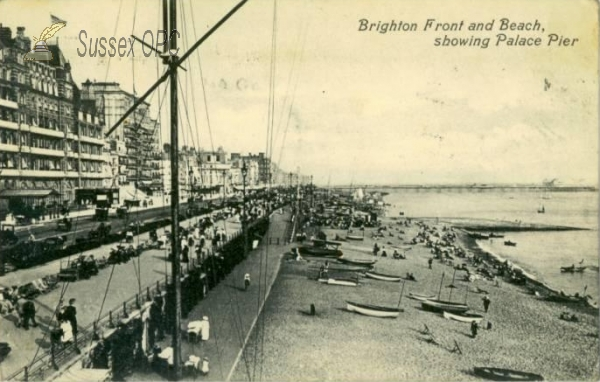 Image of Brighton - Front & Beach showing Palace Pier