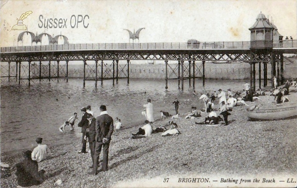 Brighton - Bathing from the Beach
