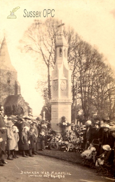 Burwash - Unveiling of the war memorial - 24th October 1920