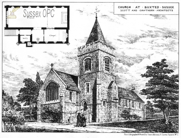 Image of Buxted - St Mary's Church - Architect's design