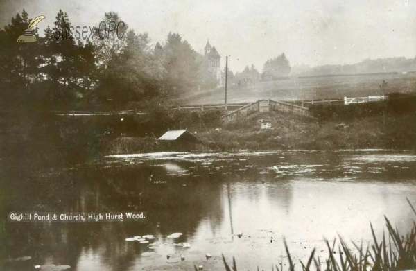 Image of High Hurstwood - Gighill Pond & Church