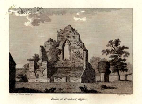 Image of Crowhurst - Manor House Ruins in 1787