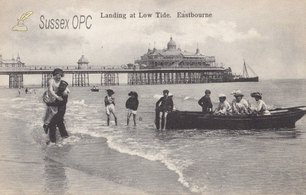 Eastbourne - Landing at Low Tide