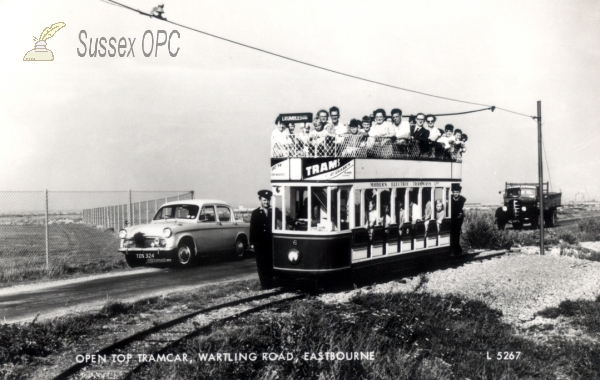 Eastbourne - Wartling Road - Open topped tramcar