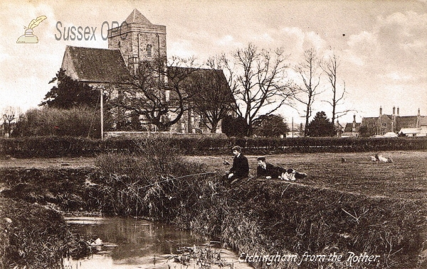 Image of Etchingham - The Church from the River Rother