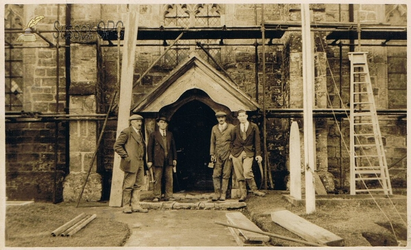 Etchingham - Building work at the Church