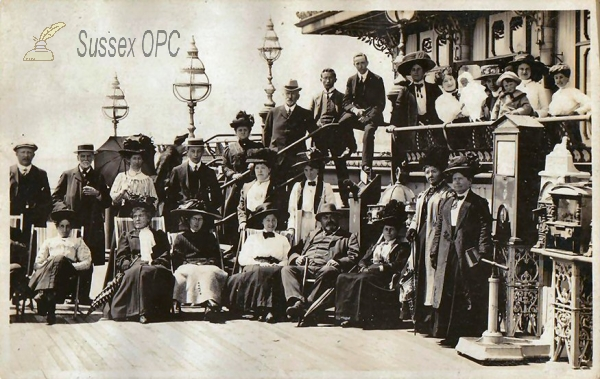 Image of Hastings - A group on the Pier