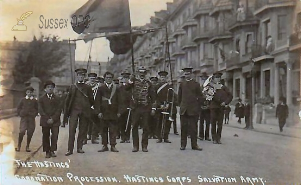 Hastings - Coronation Procession, Salvation Army