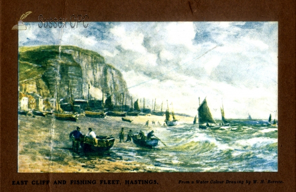 Hastings - East Cliff & Fishing Fleet