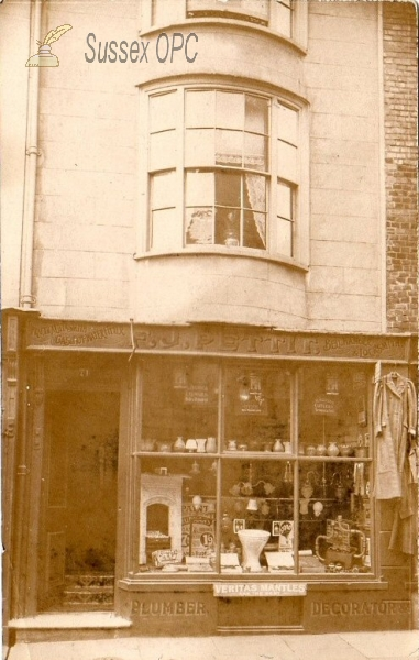 Hastings - Shop, F J Pettit, Plumber & Decorator