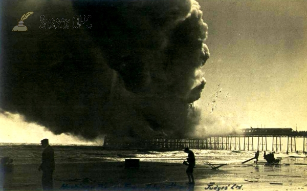 Hastings - Fire on the Pier - 15th July 1917