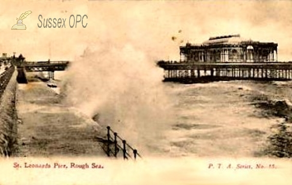 St Leonards - The Pier in a Rough Sea