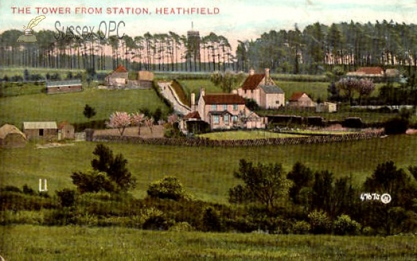 Heathfield - The tower from the station