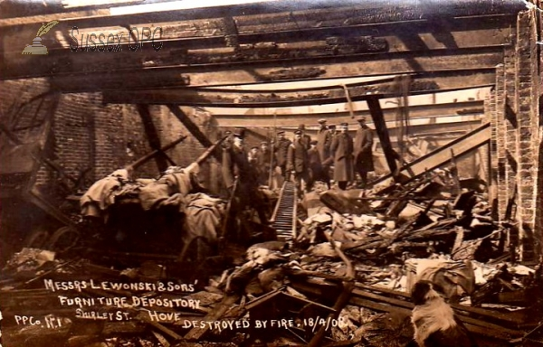 Image of Hove - Shirley Street Fire, 1908