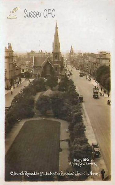 Image of Hove - Church Road & St John the Baptist Church
