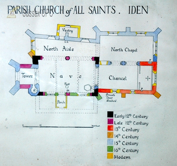 Image of Iden - All Saints Church (Plan)