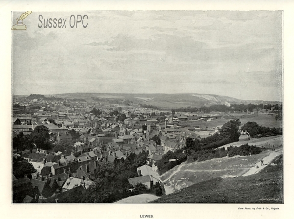 Lewes - View of the town