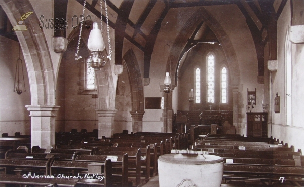 Nutley - St James the Less (Interior, oil lamps)