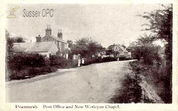 Peasmarsh - Post Office & New Wesleyan Chapel