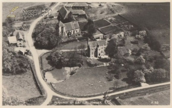 Image of Penhurst - Aerial View (St Michael's Church)