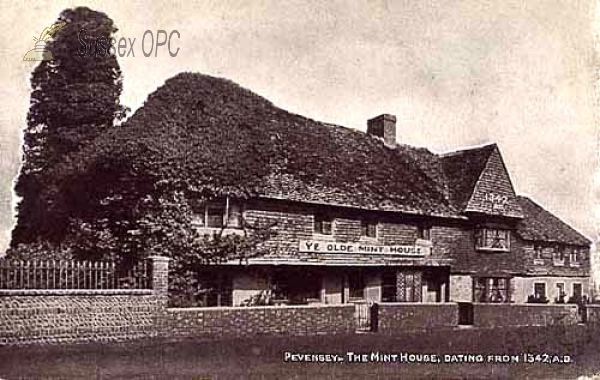 Pevensey - The Mint House dating frm 1342 A.D.