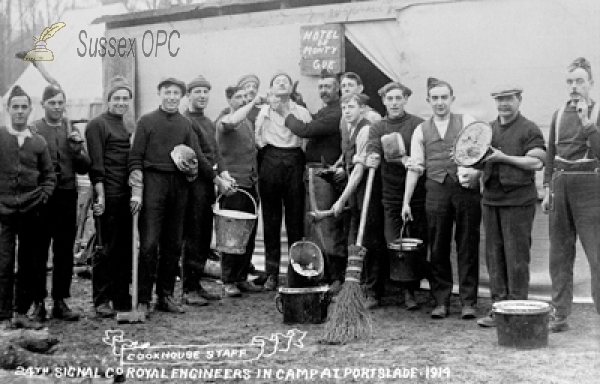 Portslade - Portslade Camp, Cookhouse Staff