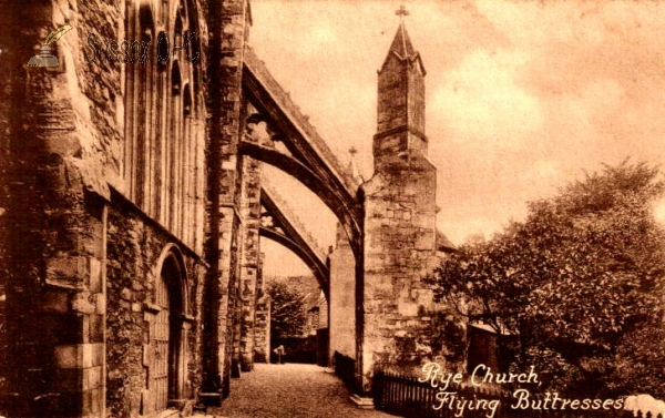Image of Rye - St Mary's Church - Buttress