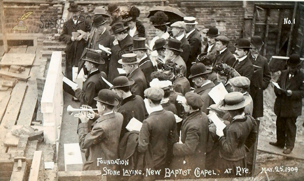 Image of Rye - Baptist Church (Laying Stone, 25th May 1909)