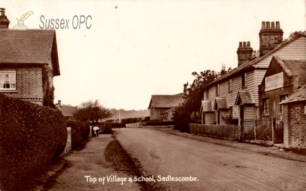 Sedlescombe - Top of the village and school