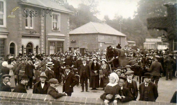 Uckfield - Railway Station & Soldiers
