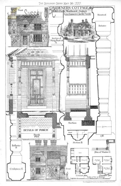 Wadhurst - Plans for Gardner's Cottage, South Park, Wadhurst